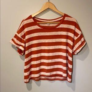 A striped O'Neill crop top.